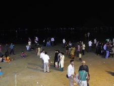 Visitor Groups At Juhu Beach
