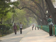 Strolling Visitors At Tilak Marg