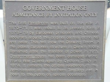Government House Info Plaque