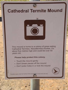 Cathedral Termite Mound Plaque