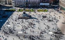 Duomo Square In Milan - Aerial View