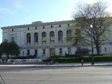 Side View Of Detroit Library
