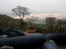 Temple View From Summit Of Dobongsan