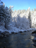 East Clear Creek With Snow In April
