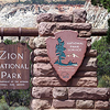 East Entrance Sign - Zion - Utah - USA
