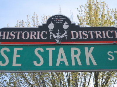 East Portland-Grand Ave Historic District Street Sign