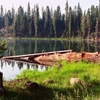 Echo Lake In Lassen National Forest
