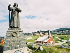 The Statue Of Hans Egede In Nuuk