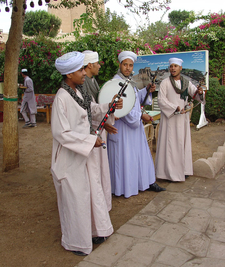 Egyptian Musicians Wearing Gellabiyas