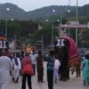 Elephants Marching During A Festival At Tirumala