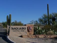 Entrance Of Saguaro National Park