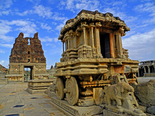 Entrance Tower And Stone Chariot At Vitthala Temple