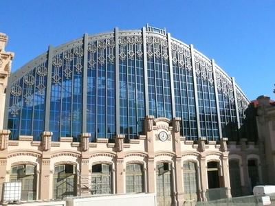 Facade Of The Estació Del Nord Sport Hall