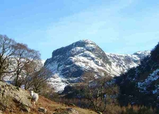 Eagle Crag From Stonethwaite Valley