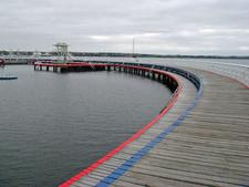 Boardwalk And Swimming Enclosure