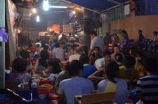 Eating On The Street Hanoi