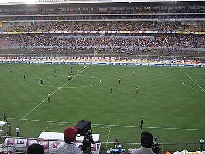 Estadio Morelos During A Soccer Game