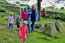 Family Trekking The Roaches UK
