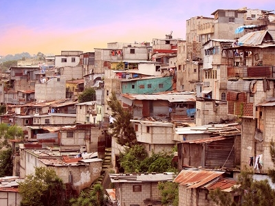 Favela Housing In Guatemala City