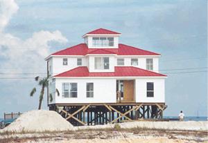 FEMA  Project  Impact Principles    House On  Dauphin  Island