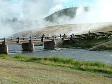 Firehole Bridge Midway Geyser Basin