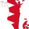 Flag Map Of Bahrain