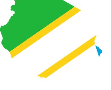 Flag  Map Of  Tanzania
