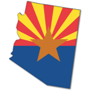 Flag Map Of  Arizona