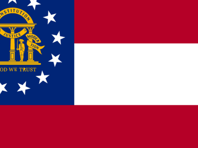 Flag Of  Georgia   2 8 U . S . State  2 9
