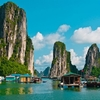 Floating Fishing Village In Halong Bay