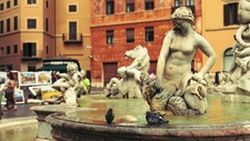 Fountain At Piazza Navona - Rome