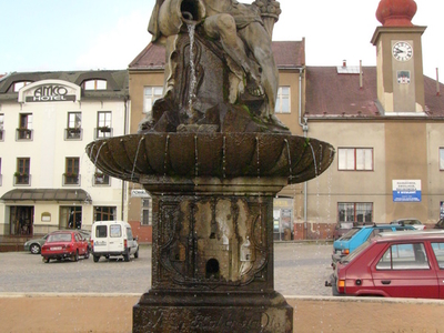 Fountain In  Zabreh    Statue