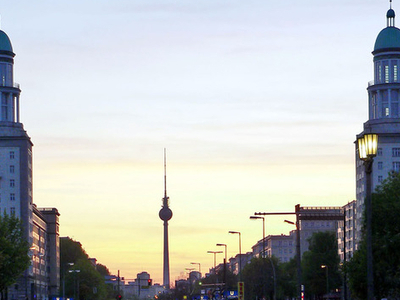 Frankfurter Tor, View To Alexanderplatz