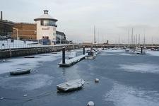 Freezing Whitehaven Harbour - Cumbria UK