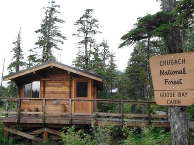 Front Side Of Goose Bay Cabin