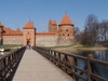 Front View Of Trakai Island Castle