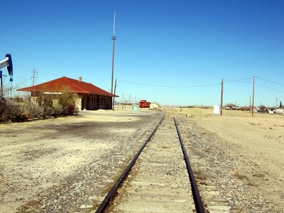 Restored Rail Depot On Abandoned Track