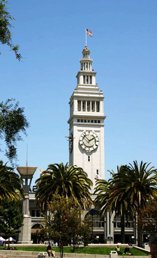The Ferry Building On The Embarcadero