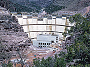 The Flaming Gorge Dam Under Construction