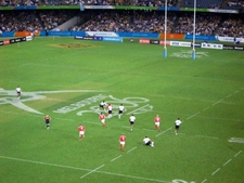 Fiji Playing The Cook Islands At Seven-A-Side Rugby