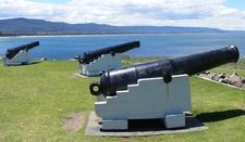 3 SBML 68 Pounder Guns At Flagstaff Hill Fort