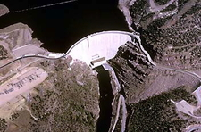An Aerial View Of The Flaming Gorge Dam
