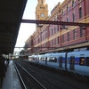 Elizabeth Street Clock Tower With Train Sitting At Platform 1