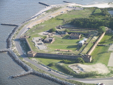 Fort Gaines Arial View