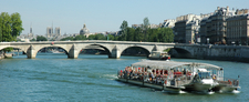 The Seine Fowing Under Pont Royal In Central Paris