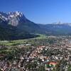 Garmisch Partenkirchen With Alpspitze And Zugspitze