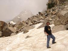 Garnet Canyon Hiker - Grand Tetons - Wyoming - USA