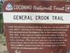 General Crook Trail Sign