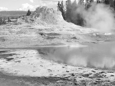 GenGeyser-5 For Dilemma Geyser - Yellowstone - USA