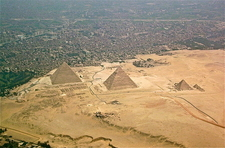 Giza Pyramid Complex Seen From Above